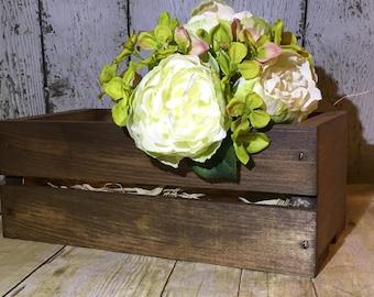 Rustic crate centerpiece, Rustic wedding Centerpiece, Country wedding centerpiece