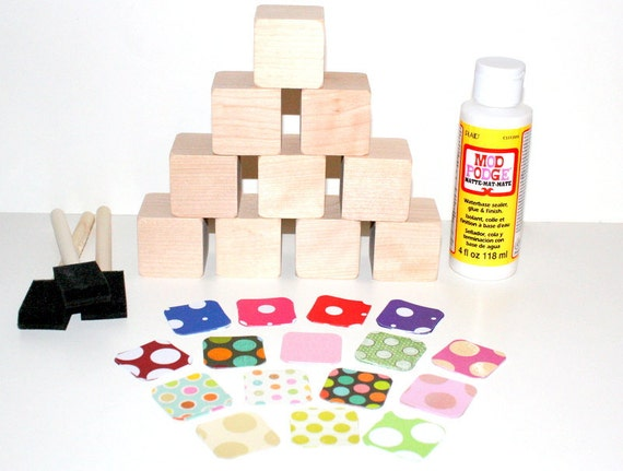 Diy baby shower craft children 39 s wooden blocks diy for Child craft wooden blocks