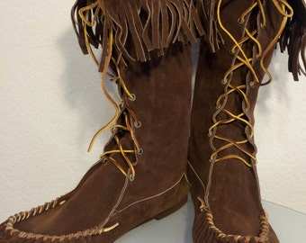 FREE   SHIPPING     1970's Deadstock Moccasin  Boots