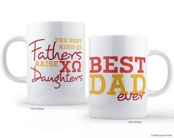 ChiO Chi Omega Best Dad Mug Sorority Father Mug