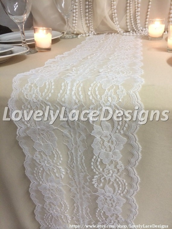lace table runner wedding table runner 8in wide wedding decor lace