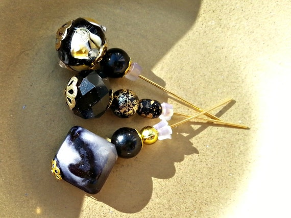 Handmade Beaded Stick Pins, Hijab pins, Hat Pins, Corsage or Bouquet Pins for Scrapbooking or Cards. Ships Worldwide