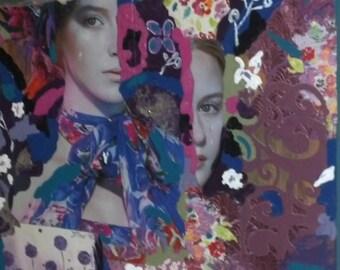 Art Print Mixed Media Collage- Transformation