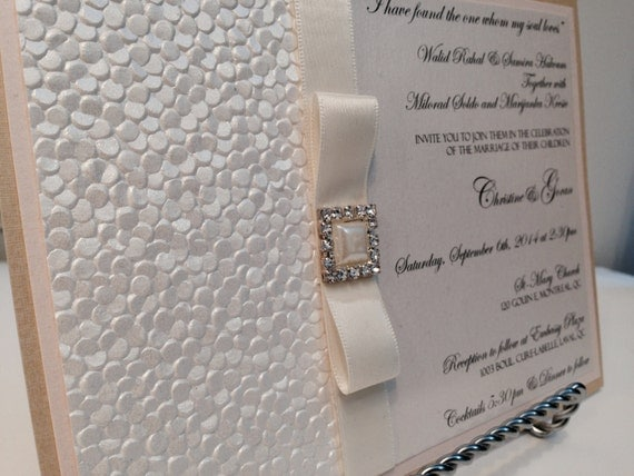 Textured Paper For Wedding Invitations: Items Similar To Blush And Gold Wedding Invitations
