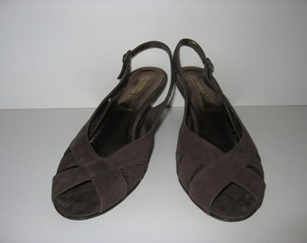 Ladies Shoes Sandals Brown Zac leather Gr. 41