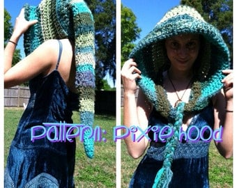 PATTERN: Long Pointed Pixie Hood