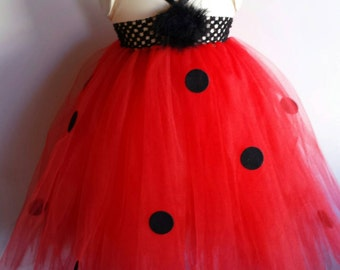 Ladybug tutu dress, birthday party dress, ladybug costume.