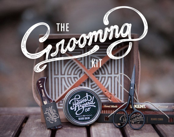 beard grooming kit scissors combs wax beard and mustache grooming. Black Bedroom Furniture Sets. Home Design Ideas
