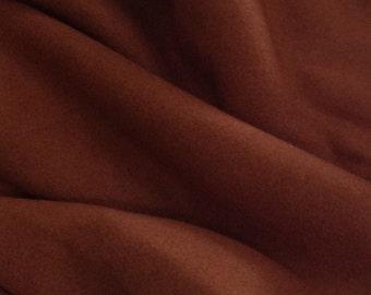 Wool Coating, 2 5/8 Yards, Deep Pumpkin Color