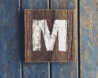 Rustic Authentic Michigan Barn Wood Personalized Letter Wall Hanging Sign