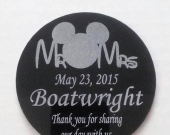 Wedding favor coasters Disney
