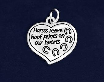 Horses Leave Hoof Prints Charm (RE-CHARM-HB-03)