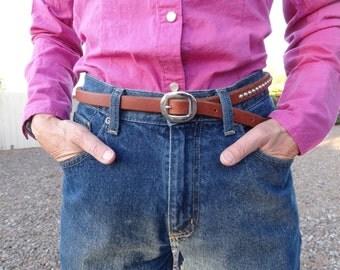 Women's Studded Horse Rein Belt