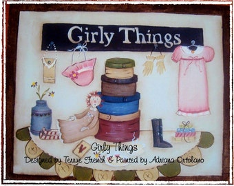 Girly Things - email pattern packet by, Adriana Ortolano