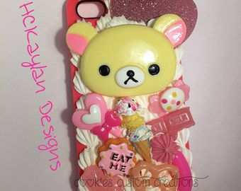 Karilakkuma Pink Sweets Themed Iphone 4/4s Case