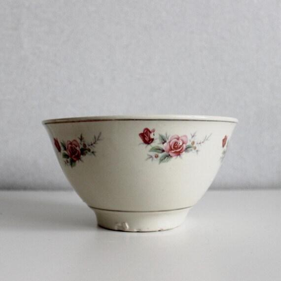Vintage Kitchen Bowls: Kitchen Large Ceramic Mixing Bowl, Antique Mixing Bowl