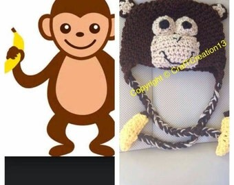 Gone Bananas Monkey Beanie
