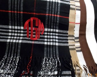 Monogrammed Scarves  Personalized Scarf  Monogram  Gift Idea