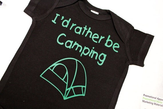 Camping Baby Bodysuit Cute Baby Clothes Personalize Baby