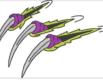 Dragon claw embroidery design