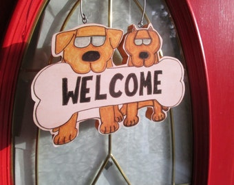 Dog Welcome Sign