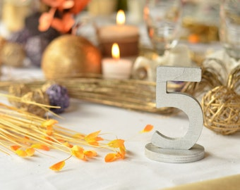 Wedding Table Numbers- Cottage Chic Wooden Table Numbers DIY, Painted or Glittered numbers for table decoration- Table Numbers