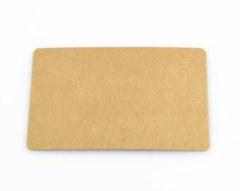 KRAFT MINI CARDS (Set of 20 cards) - 300gsm Round Edge Kraft Blank Mini Card Size Set (8.7cm x 5.4cm)