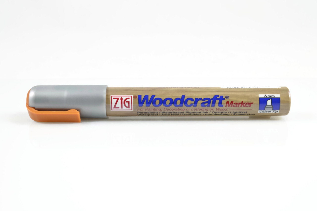 Silver wood marker zig silver woodcraft fine paint for Markers for wood crafts