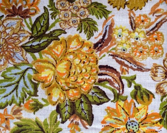 Fabulous Groovy Seventies Linen Fabric