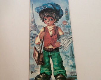 Vintage Big Eyes French Child Art, Sixties Mod Art, Kitsch Art, Igor