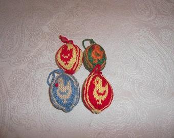 knitted Easter eggs