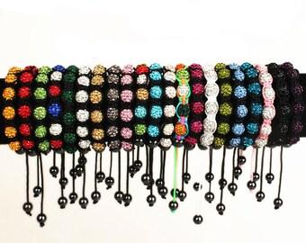26 Color Handmade shamballa bracelet, jewelry SHAMBALLA bracelet,DISCO Ball bracelet