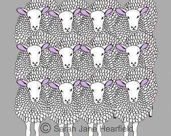 Sheep - Artwork/print of illustration