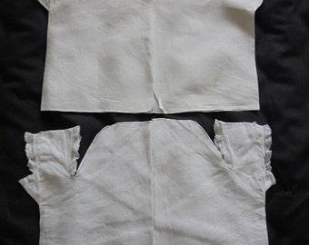 Victorian Baby Shirts  Vests x 2 - First Shirt - Open Shirt