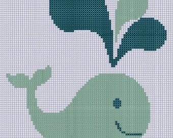 Whale 2 Cross Stitch Pattern