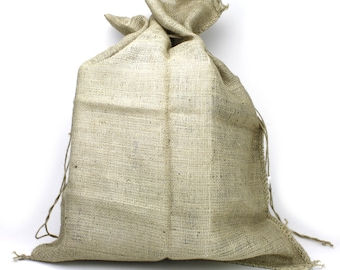 "40x44"" Burlap / Jute Sack; (BS442-12) Great uses as a santa bag, garden, and decorations,. urban, primitive, natural, country"