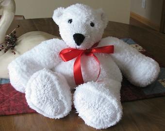 Christmas Stuffed Polar Bear