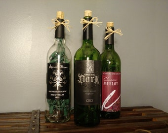 Upcycled Wine Bottle Lights