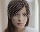 Bandeau Birdcage Veil,Bridal mini veil ---mini tulle veil----v217