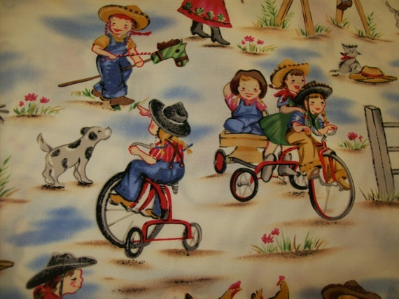 3 Fat Quarter Bundle Fabric Lil Cowgirl By Michael Miller