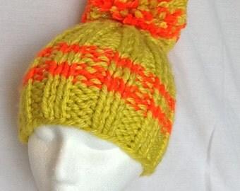 Yellow with Orange Light Reflecting KD Hat