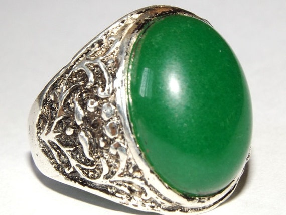 Pure Silver Rings For Men Silver Men Ring Pure Green