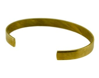 "Brass Bracelet Cuff Flat 1/4"" Wide  (MSBR1001)"