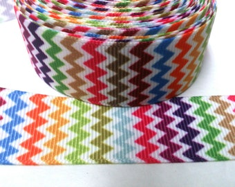 Chevron Grosgrain Ribbon by the yard for hairbow, embellishments, trim, scrapbooking