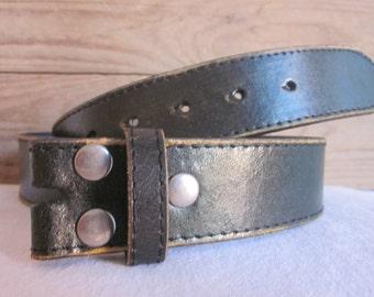 Size (36-38) * Large Distressed genuine leather black belt strap