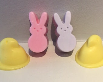 Chick & Bunny Soap / Easter Soap / Natural Soap / 1.5 oz Soap / Goat Milk Soap / Baby Shower Favor / Easter Basket Treat