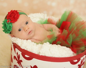 Christmas Tutu-Red and Green Tutu, Baby Tutu, Infant Tutu, Toddler Tutu, Girls Tutu, Tutu Skirt