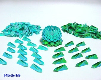500pcs Folded Paper Petals For Making 5pcs of Small Origami Lotus. (TX Paper Series).