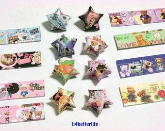 250 strips of DIY Origami Lucky Stars Paper Folding Kit. 26cm x 1.2cm. #A107. (XT Paper Series).