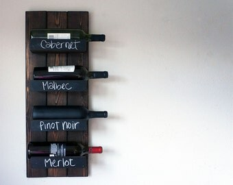 Wall mount wine rack | Etsy
